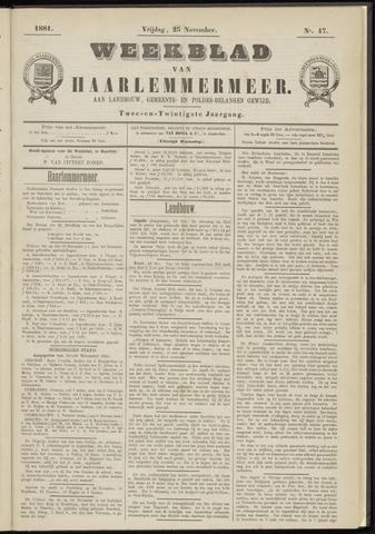 Weekblad van Haarlemmermeer 1881-11-25