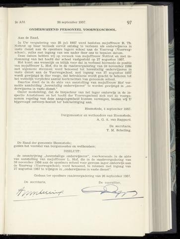 Raadsnotulen Heemstede 1957-09-26