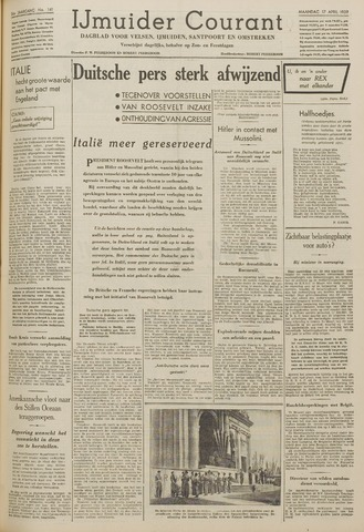 IJmuider Courant 1939-04-17