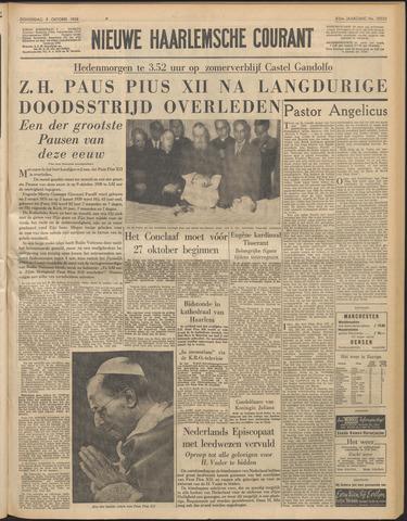 Nieuwe Haarlemsche Courant 1958-10-09