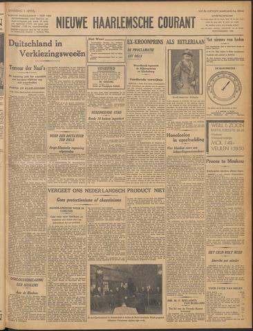 Nieuwe Haarlemsche Courant 1932-04-05