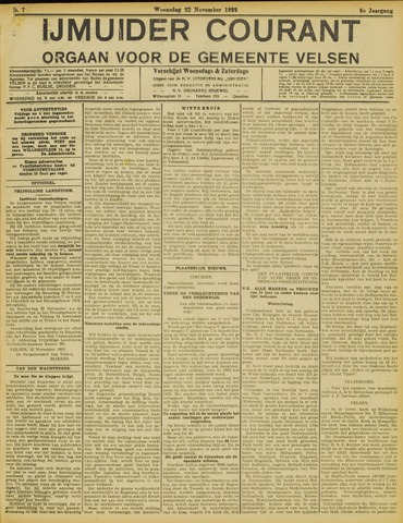 IJmuider Courant 1922-11-22