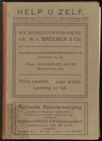 Adresboeken Bloemendaal 1920