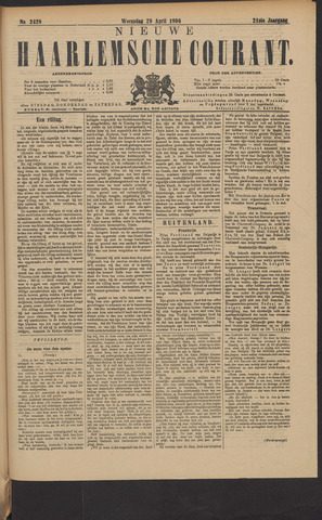 Nieuwe Haarlemsche Courant 1896-04-29