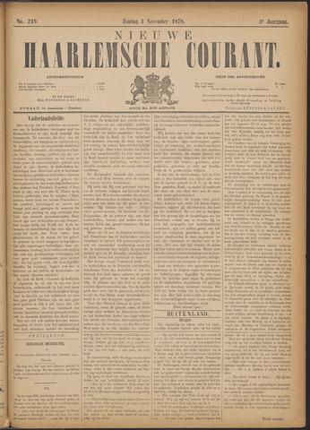 Nieuwe Haarlemsche Courant 1878-11-03