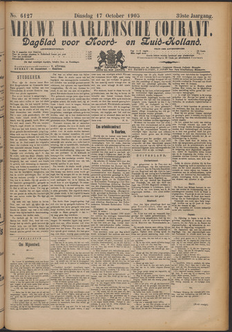 Nieuwe Haarlemsche Courant 1905-10-17