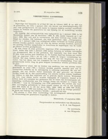 Raadsnotulen Heemstede 1960-08-25
