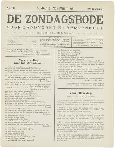 De Zondagsbode voor Zandvoort en Aerdenhout 1913-11-23
