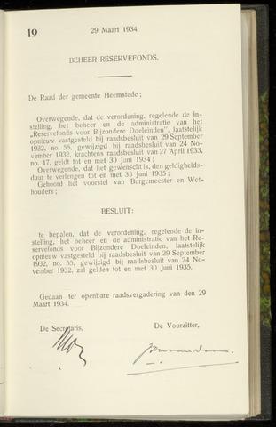 Raadsnotulen Heemstede 1934-03-29