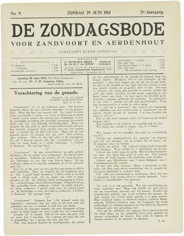De Zondagsbode voor Zandvoort en Aerdenhout 1913-06-29