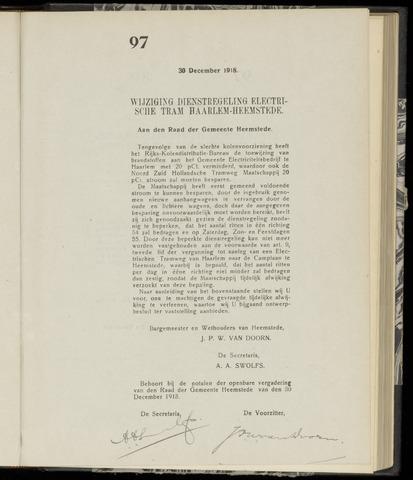 Raadsnotulen Heemstede 1918-12-30