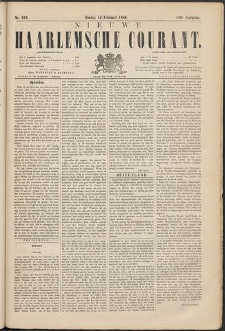 Nieuwe Haarlemsche Courant 1886-02-14