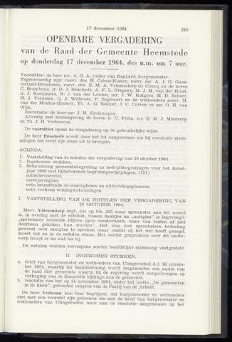 Raadsnotulen Heemstede 1964-12-17