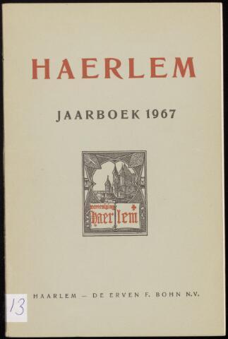 Jaarverslagen en Jaarboeken Vereniging Haerlem 1967