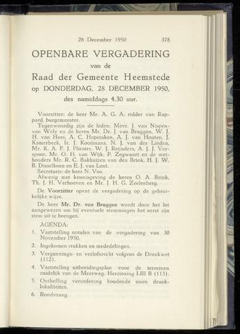 Raadsnotulen Heemstede 1950-12-28