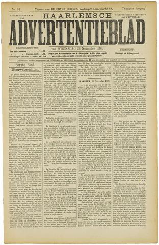 Haarlemsch Advertentieblad 1898-11-23