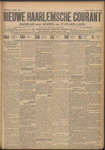 Nieuwe Haarlemsche Courant 1909-12-15