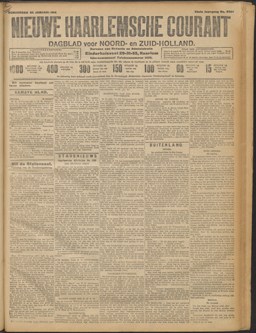 Nieuwe Haarlemsche Courant 1914-01-22