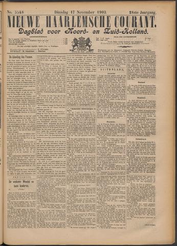 Nieuwe Haarlemsche Courant 1903-11-17