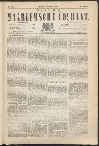Nieuwe Haarlemsche Courant 1884-11-23