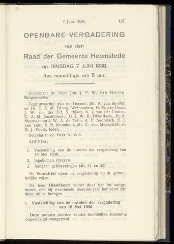 Raadsnotulen Heemstede 1938-06-07