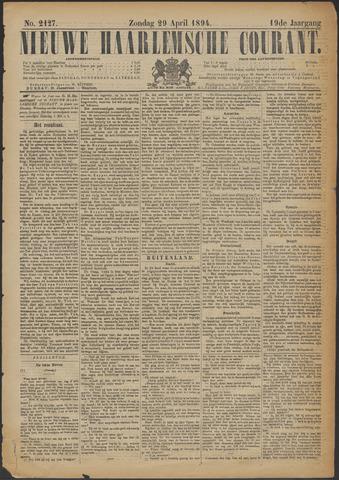 Nieuwe Haarlemsche Courant 1894-04-29