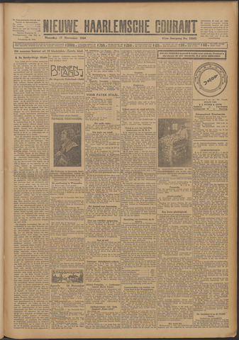 Nieuwe Haarlemsche Courant 1924-11-17