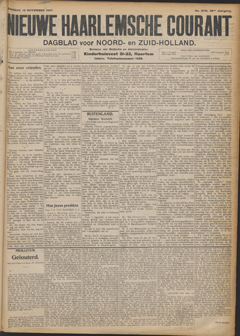 Nieuwe Haarlemsche Courant 1907-11-19