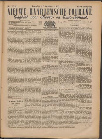 Nieuwe Haarlemsche Courant 1903-10-27