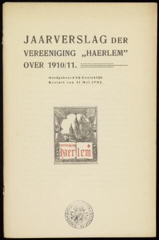 Jaarverslagen en Jaarboeken Vereniging Haerlem 1910