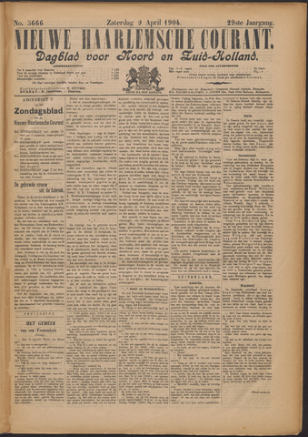 Nieuwe Haarlemsche Courant 1904-04-09