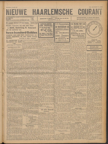 Nieuwe Haarlemsche Courant 1922-05-29