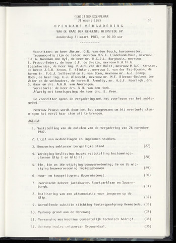 Raadsnotulen Heemstede 1983-03-31