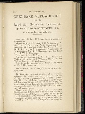 Raadsnotulen Heemstede 1948-09-20