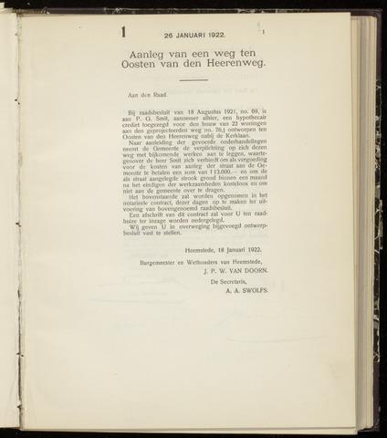 Raadsnotulen Heemstede 1922-01-26