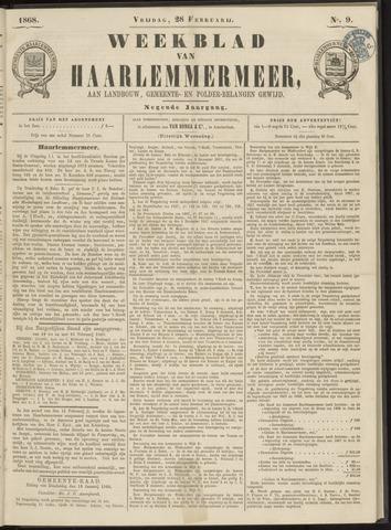 Weekblad van Haarlemmermeer 1868-02-28