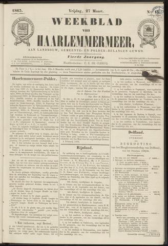 Weekblad van Haarlemmermeer 1863-03-27