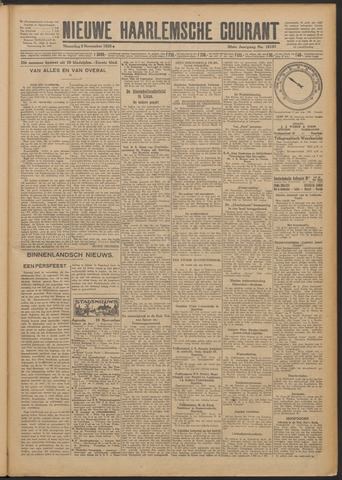Nieuwe Haarlemsche Courant 1925-11-09