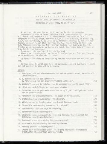 Raadsnotulen Heemstede 1982-06-24