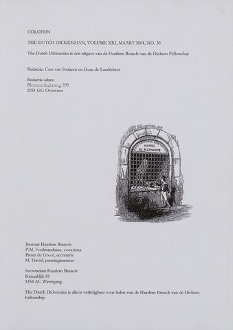 The Dutch Dickensian 2001