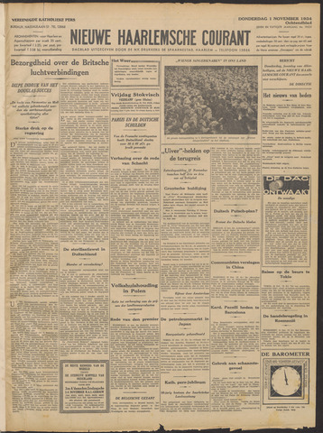 Nieuwe Haarlemsche Courant 1934-11-01