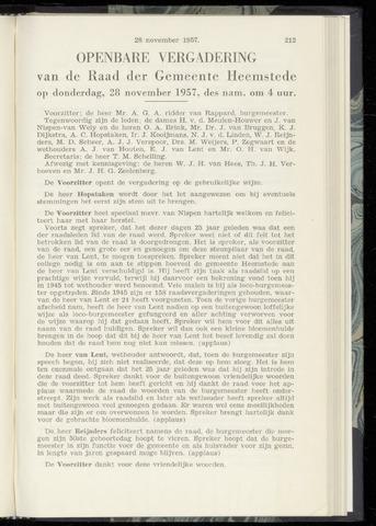 Raadsnotulen Heemstede 1957-11-28