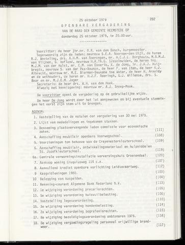 Raadsnotulen Heemstede 1979-10-25