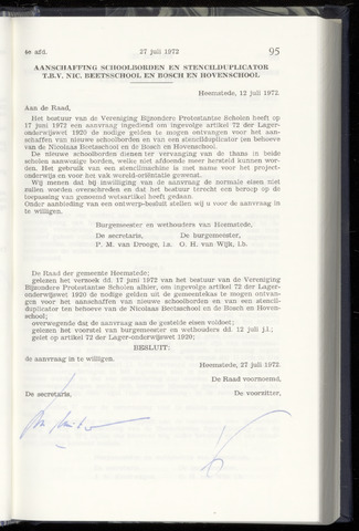 Raadsnotulen Heemstede 1972-07-27