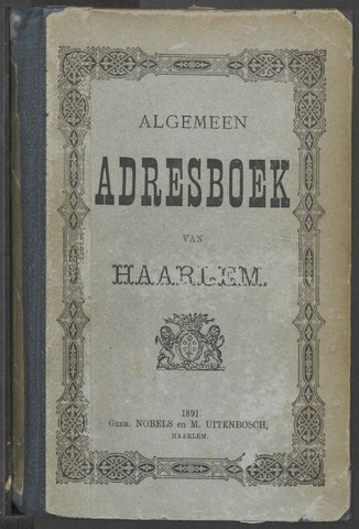 Adresboeken Haarlem 1891