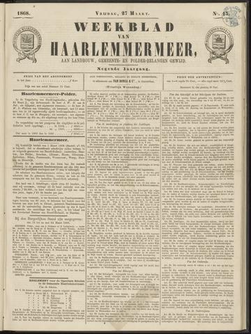 Weekblad van Haarlemmermeer 1868-03-27