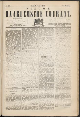 Nieuwe Haarlemsche Courant 1885-12-06