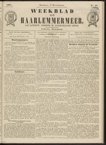 Weekblad van Haarlemmermeer 1867-11-01