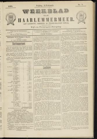 Weekblad van Haarlemmermeer 1884-02-01