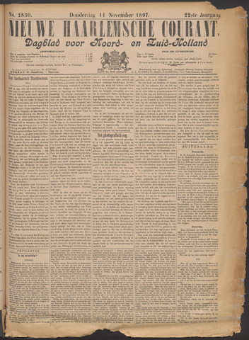 Nieuwe Haarlemsche Courant 1897-11-11